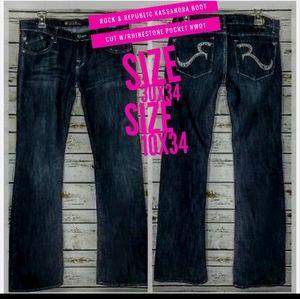 Rock & Republic Jeans Size 10/30 Kassandra Boot